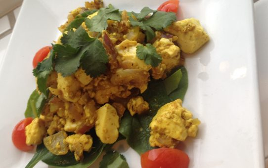 Scrambled spicy tofu recipe