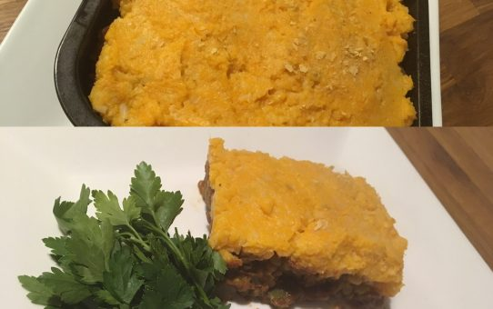 Mung bean shepherds pie