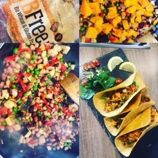 Sweet Potato Bean Tacos